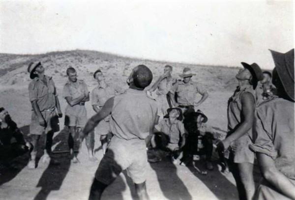 Cavalrymen at worship