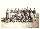 Rowe Collection :: Footy Team Palestine 1941  Gordon & Doug Rowe back right &  Trevor Limb sitting front right