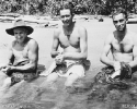 L to R. Cox, Shorrock and Clugston Polluting a creek