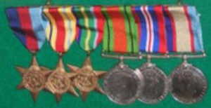 Father's medals worn on right breast